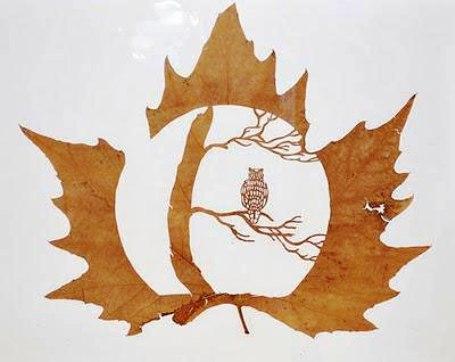 Узоры листьев своими руками