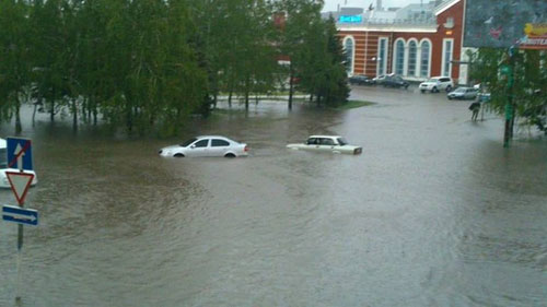 Потоп в Краматорске после ливня (фото) - фото 1